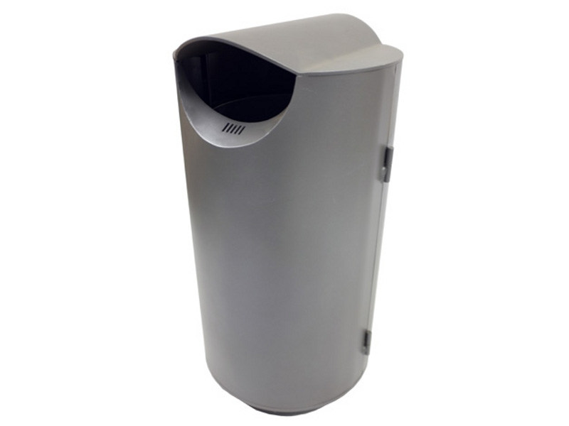 Steel waste bin ROUND LARGE - Factory Street Furniture