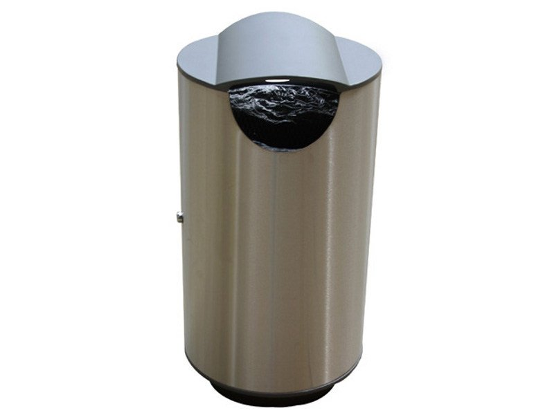 Stainless steel waste bin ROUND SMALL by Factory Furniture