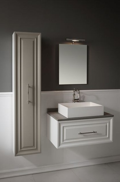 Wall-mounted vanity unit with mirror CHARME 1 - BLEU PROVENCE