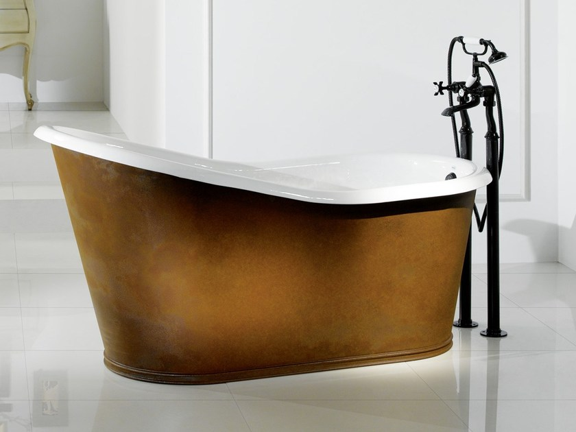 Cast iron bathtub OLD LAVANDE COPPER - BLEU PROVENCE