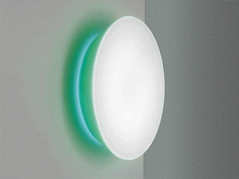 Opal glass wall/ceiling lamp CONCA W1 - Rotaliana