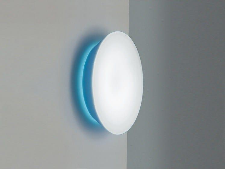 Opal glass wall/ceiling lamp CONCA W2 - Rotaliana