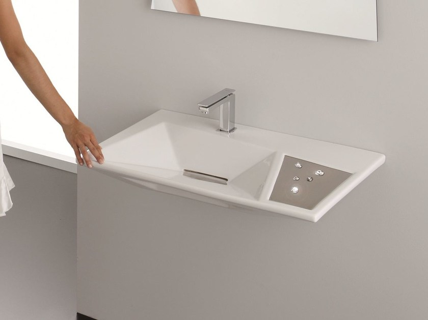 Wall-mounted washbasin CRYSTAL | Wall-mounted washbasin - Olympia Ceramica