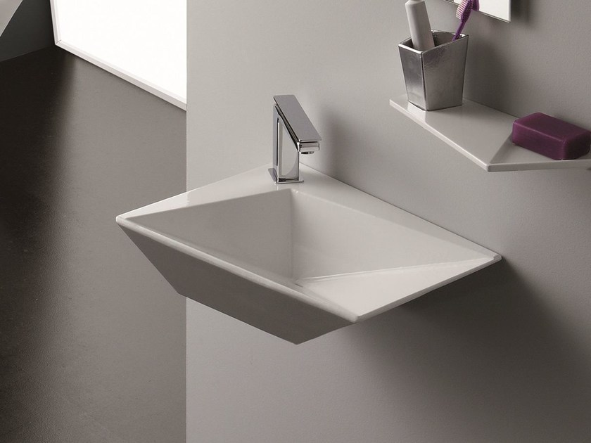 Wall-mounted washbasin CRYSTAL | Wall-mounted washbasin by Olympia Ceramica