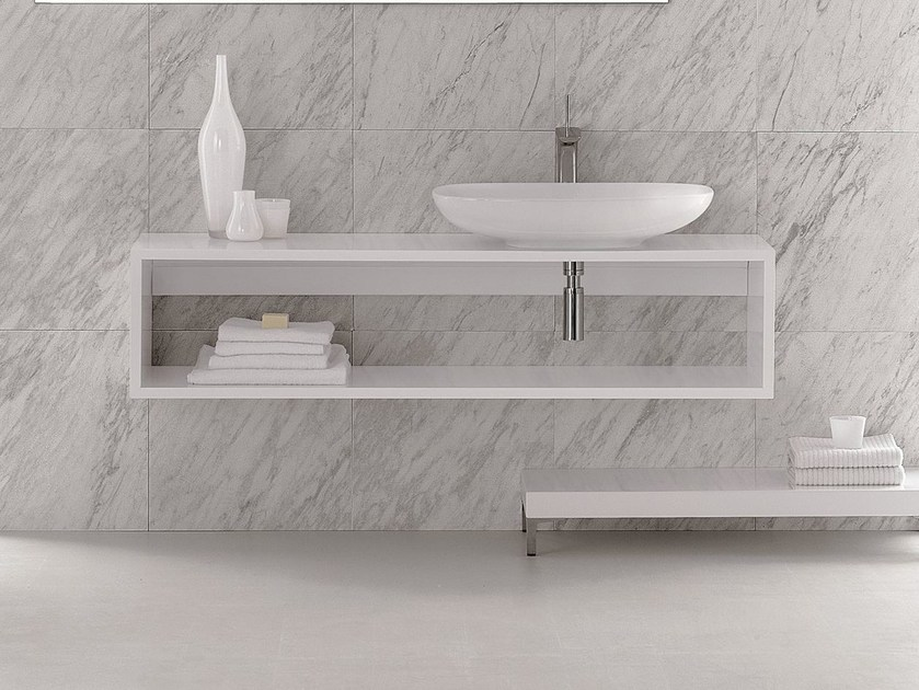 Wall-mounted vanity unit CLEAR | Vanity unit by Olympia Ceramica