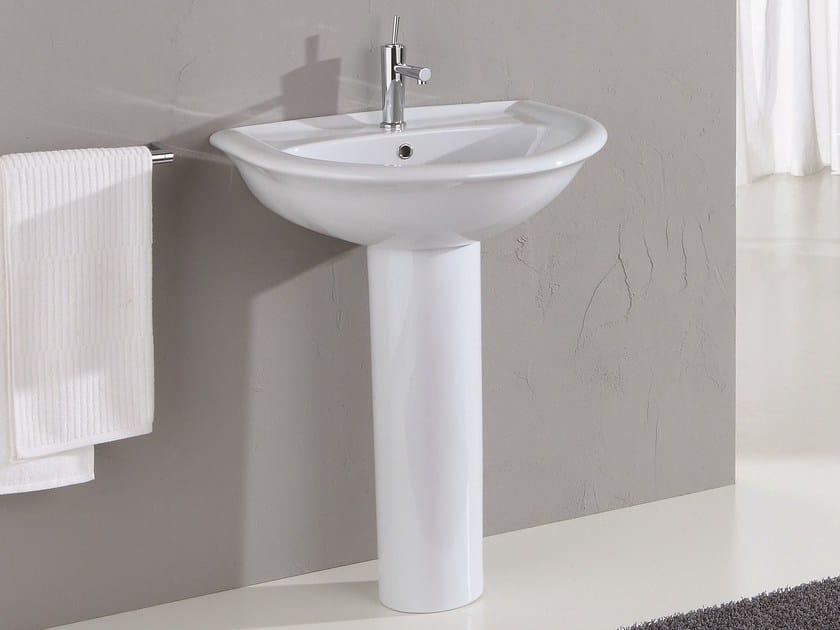 Pedestal washbasin FEDERICA | Pedestal washbasin by Olympia Ceramica