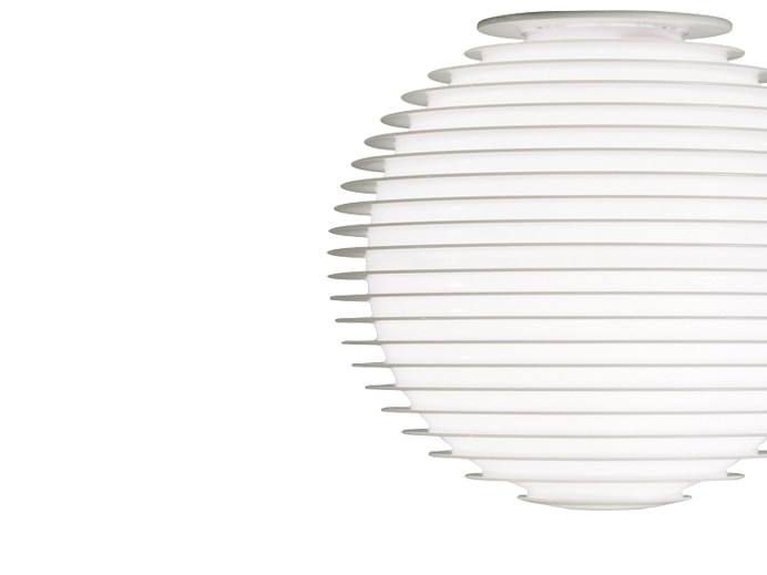 Halogen polycarbonate ceiling lamp FLOW H4 - Rotaliana