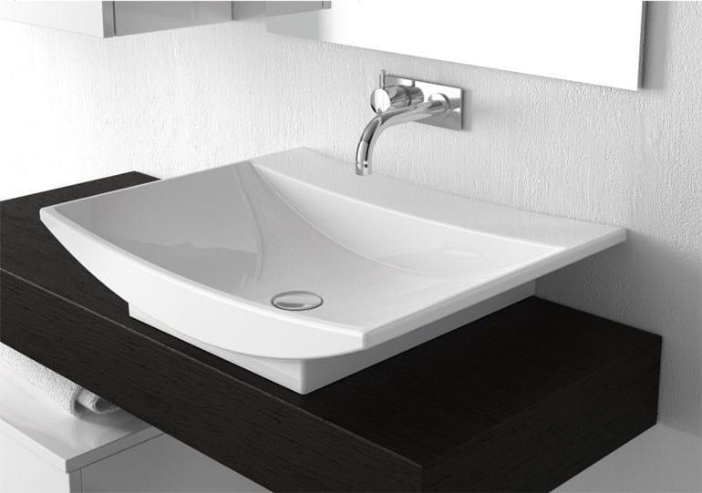 Lavabo sobre encimera rectangular 09 52 serie lavabi d for Lavabo sobre encimera rectangular