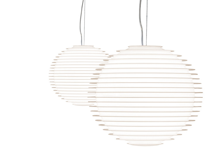 Polycarbonate pendant lamp FLOW H2 - Rotaliana