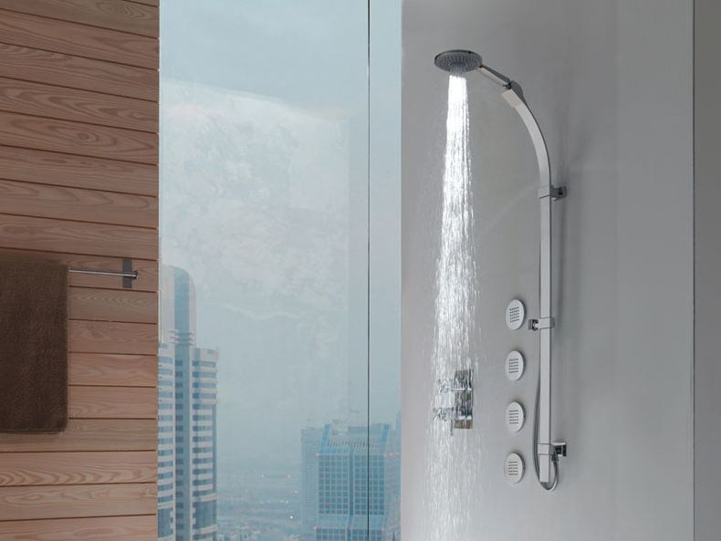 Shower wallbar with hand shower MIXA/3 FITAIR | Shower wallbar by Bossini