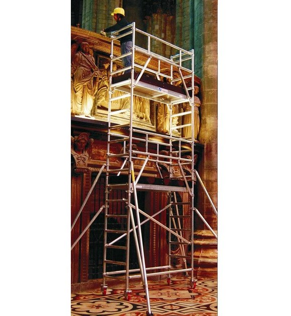 Mobile scaffolding for construction site B74 by Frigerio Carpenterie