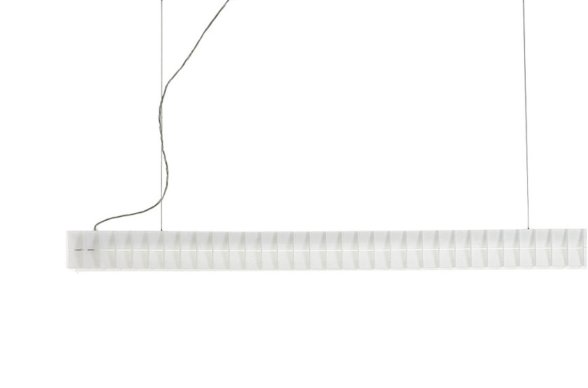 Fluorescent polycarbonate pendant lamp LISCA H3 - Rotaliana