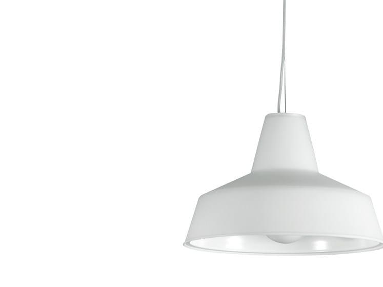 Direct-indirect light glass pendant lamp OFFICINA H4 - Rotaliana