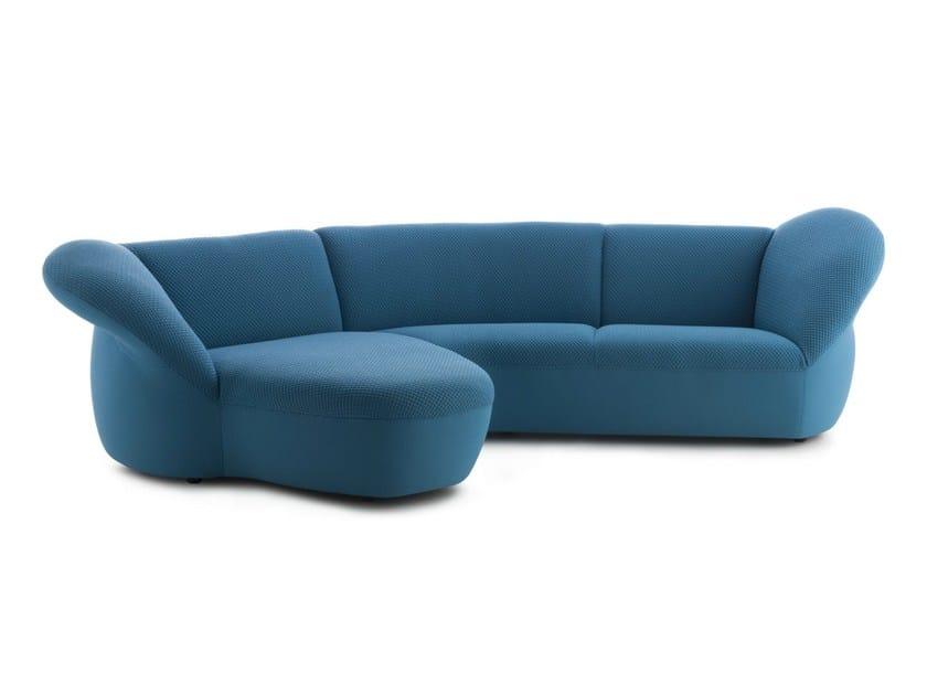 Corner sectional fabric sofa GYNKO | Corner sofa - LEOLUX