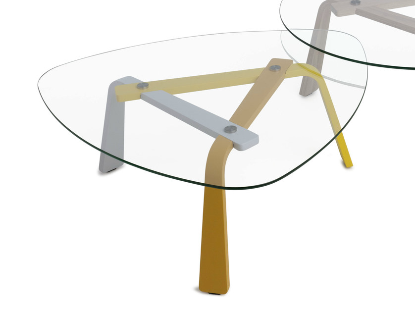 Glass coffee table for living room IRIS | Coffee table - LEOLUX