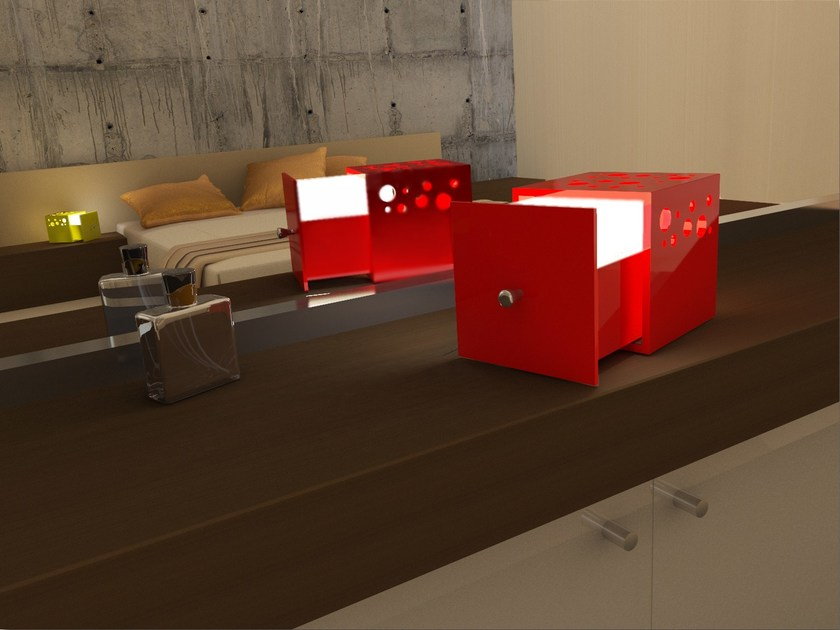 LED direct-indirect light table lamp CUBE | Bedside lamp - Zuri Design