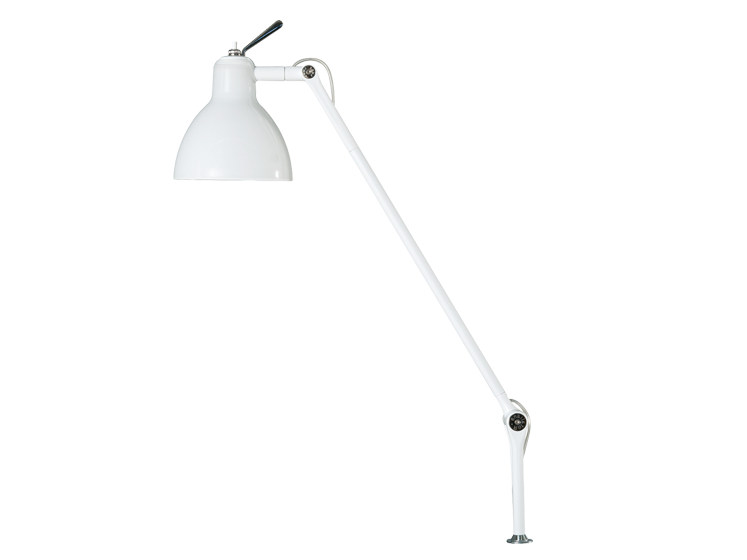 With swing arm glass and steel desk lamp LUXY T3 - Rotaliana