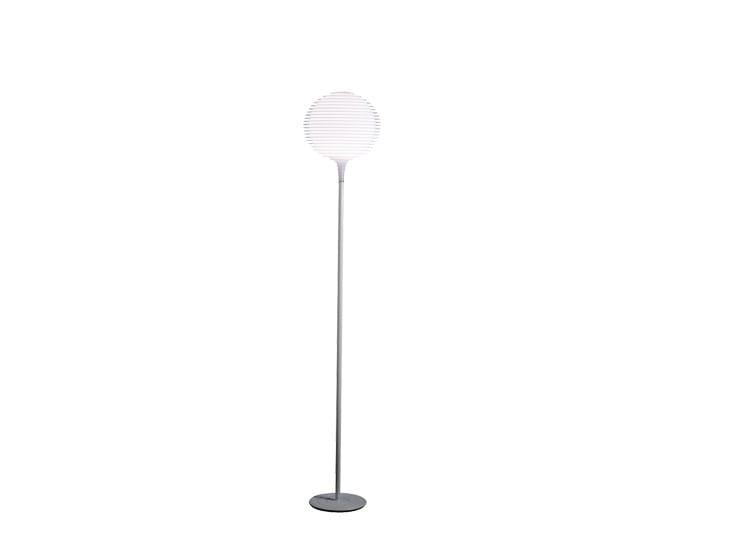Halogen polycarbonate floor lamp FLOW F2 - Rotaliana