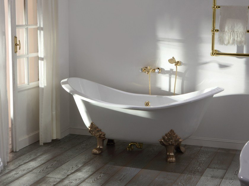 Neoclassical style freestanding bathtub IMPERO STYLE | Bathtub by Rubinetteria Giulini