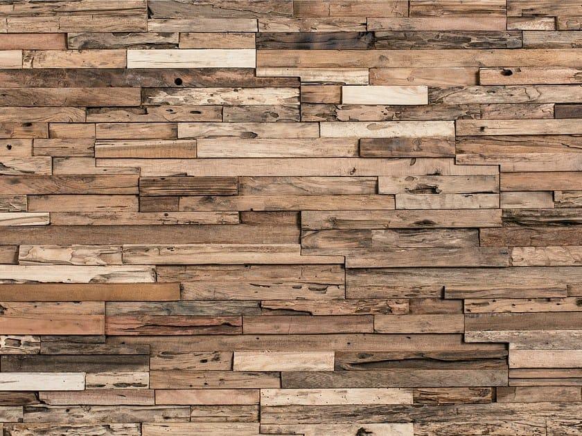 Rivestimento tridimensionale in legno per interni WHEELS - Wonderwall Studios