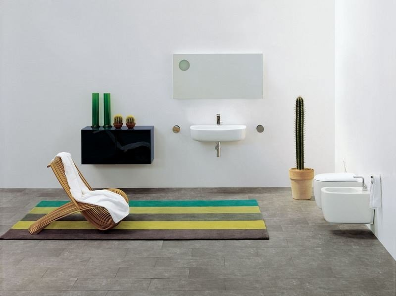 Ceramic bathroom furniture set MONO' | Bathroom furniture set by CERAMICA FLAMINIA