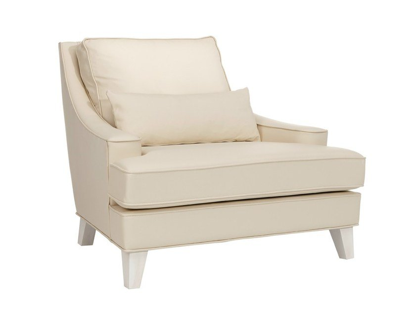 Upholstered armchair with armrests LEO | Armchair - SELVA