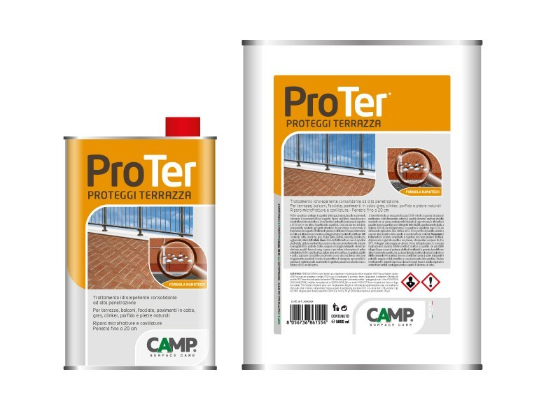 Flooring protection / Surface water-repellent product ProTer® - CAMP