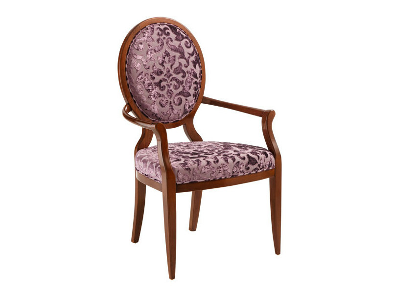 Medallion chair with armrests HUGO | Chair with armrests - SELVA