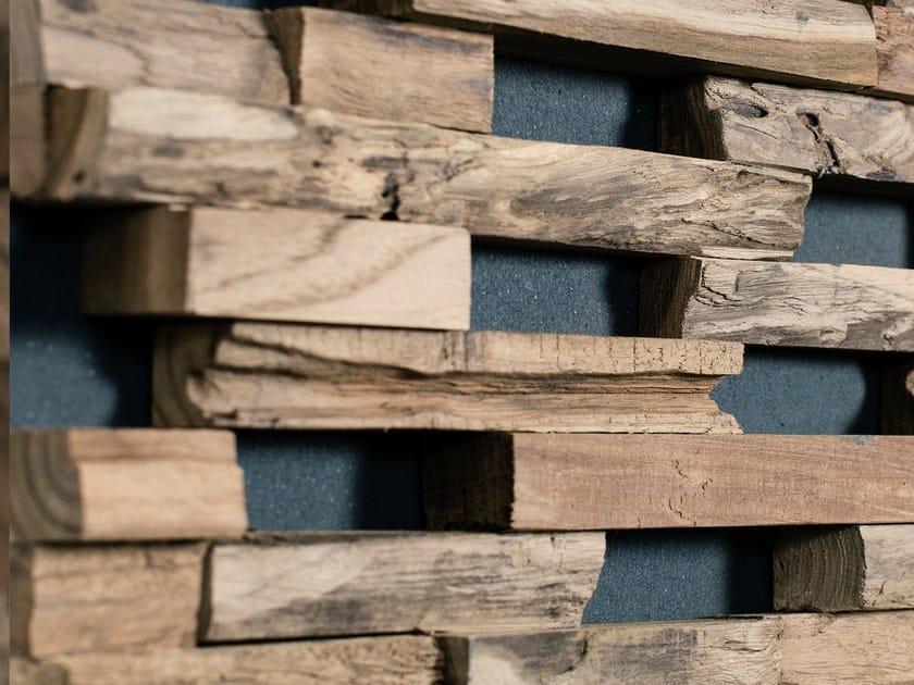 Rivestimento tridimensionale in legno per esterni train ...