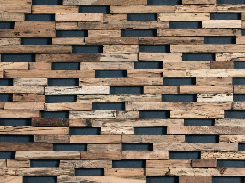 Outdoor wooden 3D Wall Cladding TRAIN - Wonderwall Studios