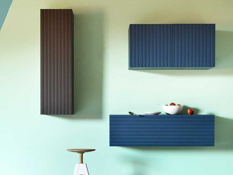 Lacquered wooden wall cabinet with door CODE | Wall cabinet - Miniforms