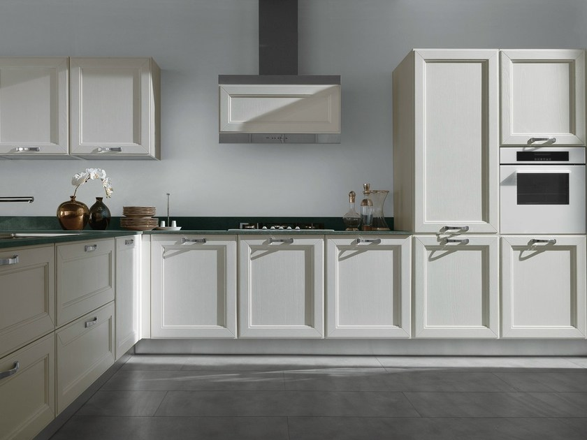 Lacquered ash kitchen with handles KATE - GD Arredamenti