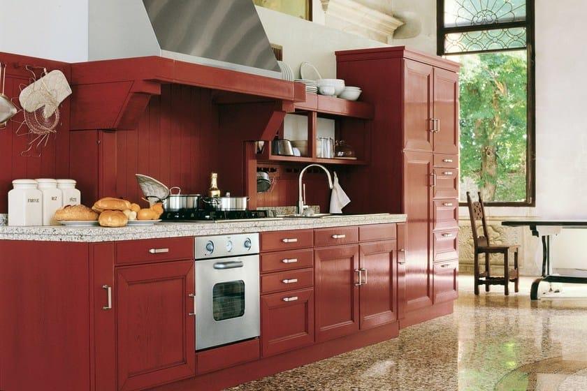 Cucina lineare in frassino con maniglie settecento gd for Fc arredamenti