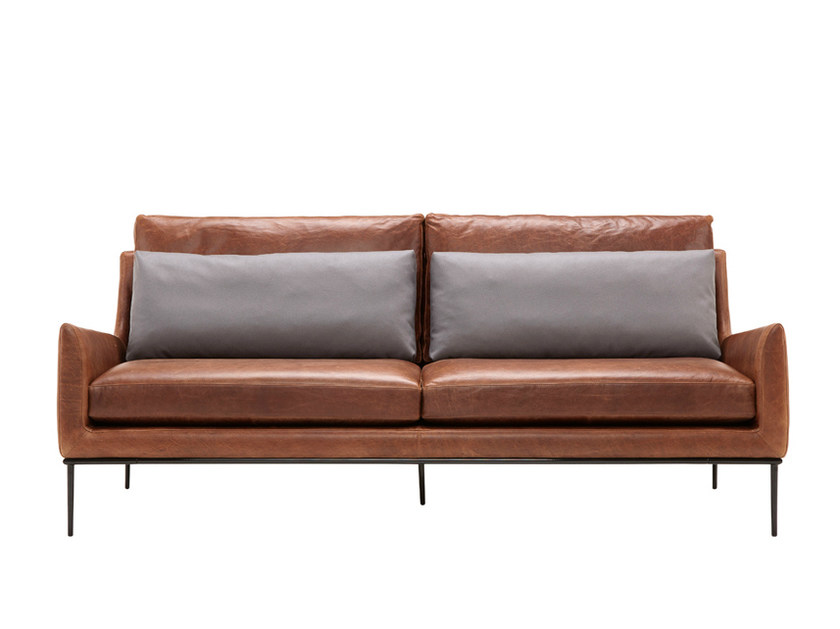 Upholstered Leather Sofa 3 Seater Sofa Alice Collection By