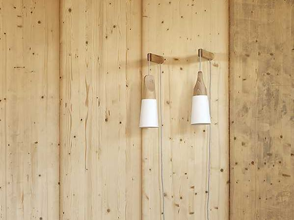 Direct light wooden wall lamp SLOPE | Wall lamp - Miniforms
