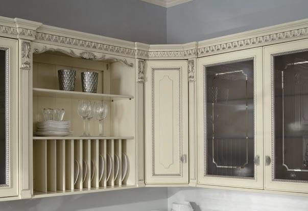 Cucina laccata foglia argento in stile veneziano SERENISSIMA ...