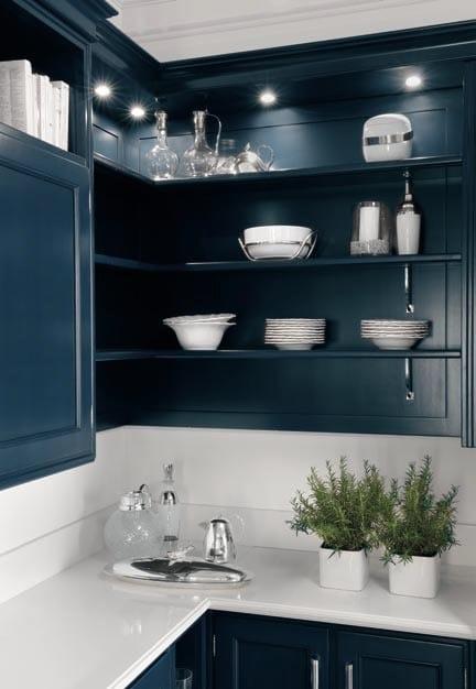 Cucina laccata in legno massello in stile americano park - Finestre stile americano ...