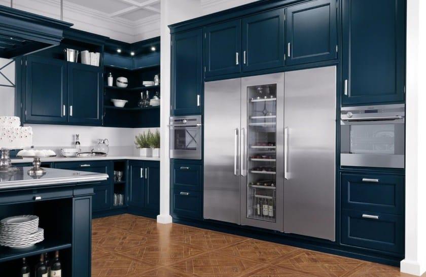 Cucina laccata in legno massello in stile americano park avenue gd arredamenti - Finestre stile americano ...