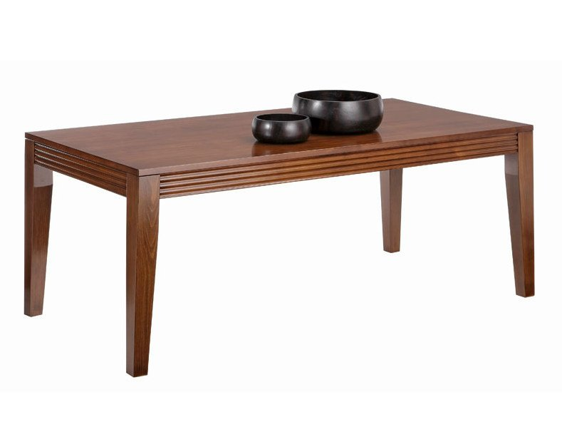 Rectangular wooden dining table LUNA | Wooden table - SELVA