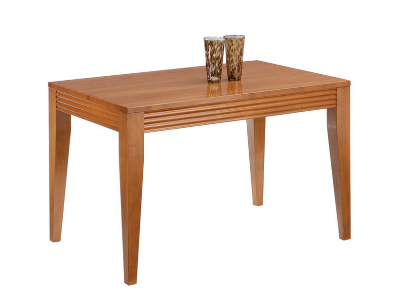 Rectangular wooden dining table LUNA | Dining table - SELVA