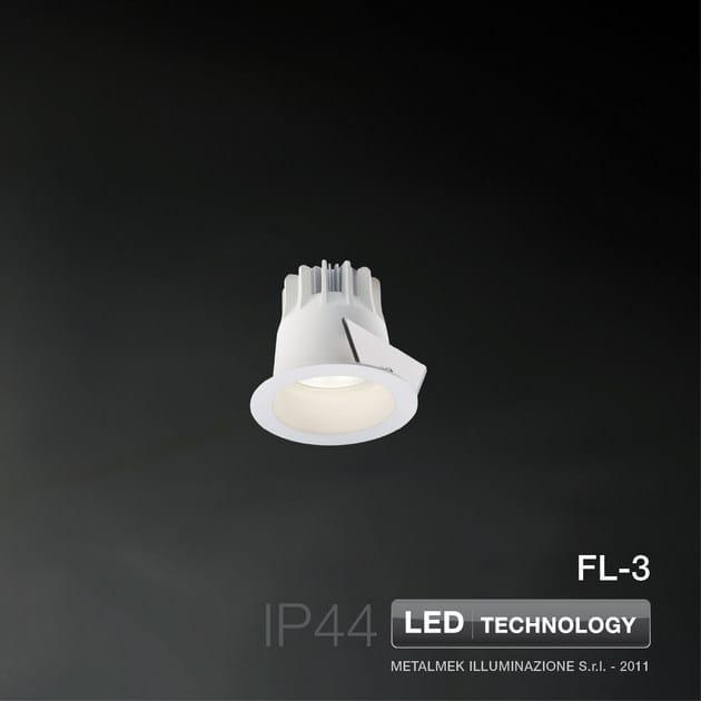 LED round recessed spotlight FL-3 - METALMEK ILLUMINAZIONE