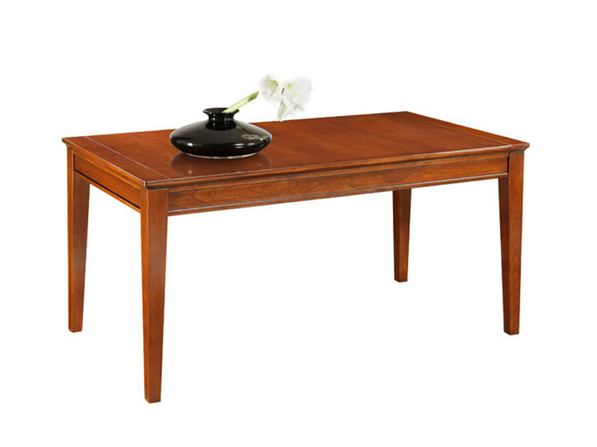 Rectangular wooden dining table SOPHIA | Extending table - SELVA