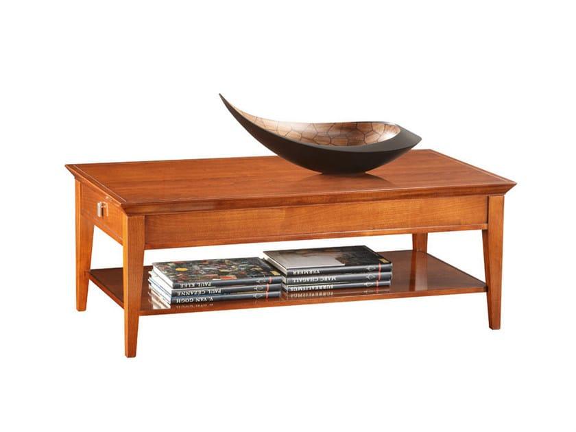 Low rectangular wooden coffee table SOPHIA | Rectangular coffee table - SELVA