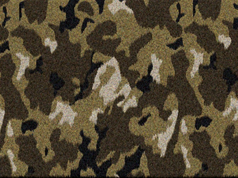 Patterned rectangular rug CAMO - VONDOM