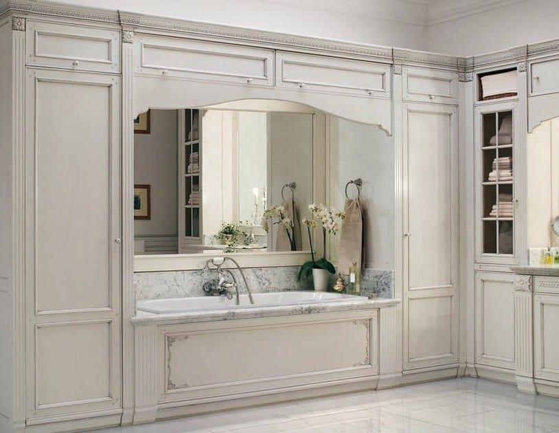 Arredo bagno completo in legno massello in stile veneziano rialto gd arredamenti - Arredo bagno venezia ...