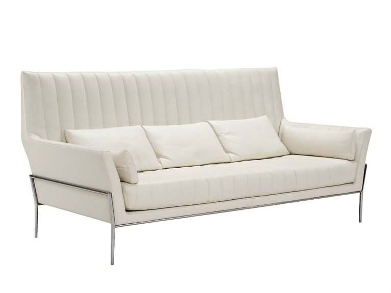 HIGH BACK LEATHER SOFA 3 SEATER SOFA PRESTIGE COLLECTION