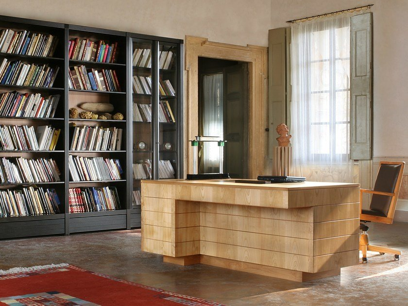 Cherry wood writing desk with drawers '900 ROMA   Writing desk by Morelato
