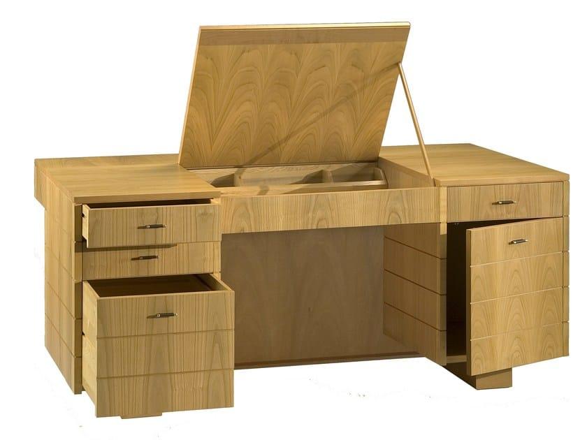 Scrivania in ciliegio con cassetti 39 900 roma scrivania - Archivadores de madera ...