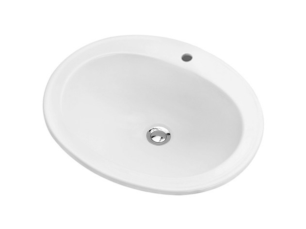 Inset oval washbasin ORIENTAL by Olympia Ceramica