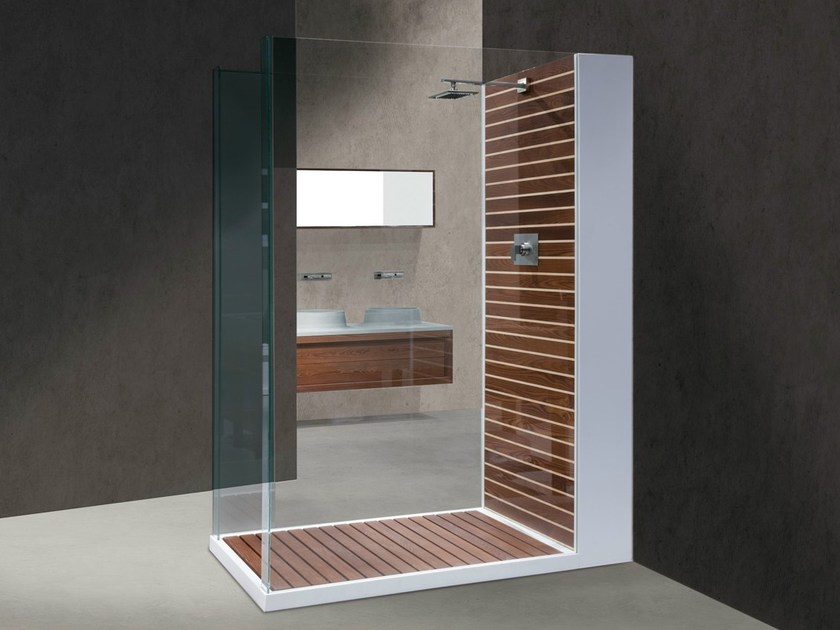 Rectangular Corian® shower cabin DOGATA - GD Arredamenti